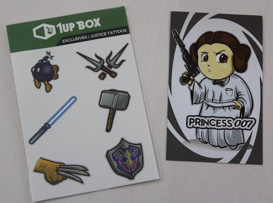 1UP Box Subscription Box Review – July 2015 - tattoo