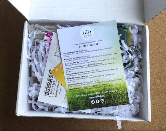 Paleo Life Box Subscription Box Review – July 2015 - Inside