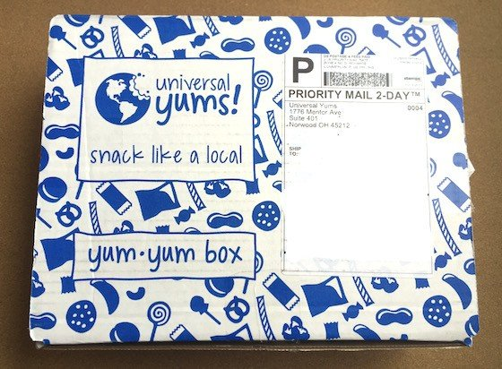Universal Yums Subscription Box Review October 2015 - Box