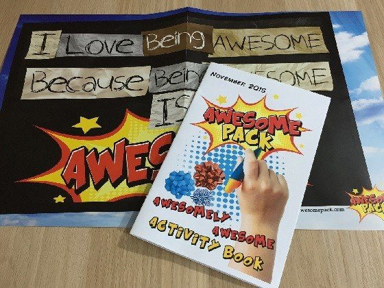 Awesome Pack Subscription Box Review November 2015 - extras