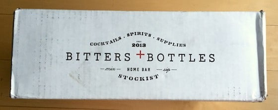Bitters + Bottles Subscription Box Review December 2015-Box