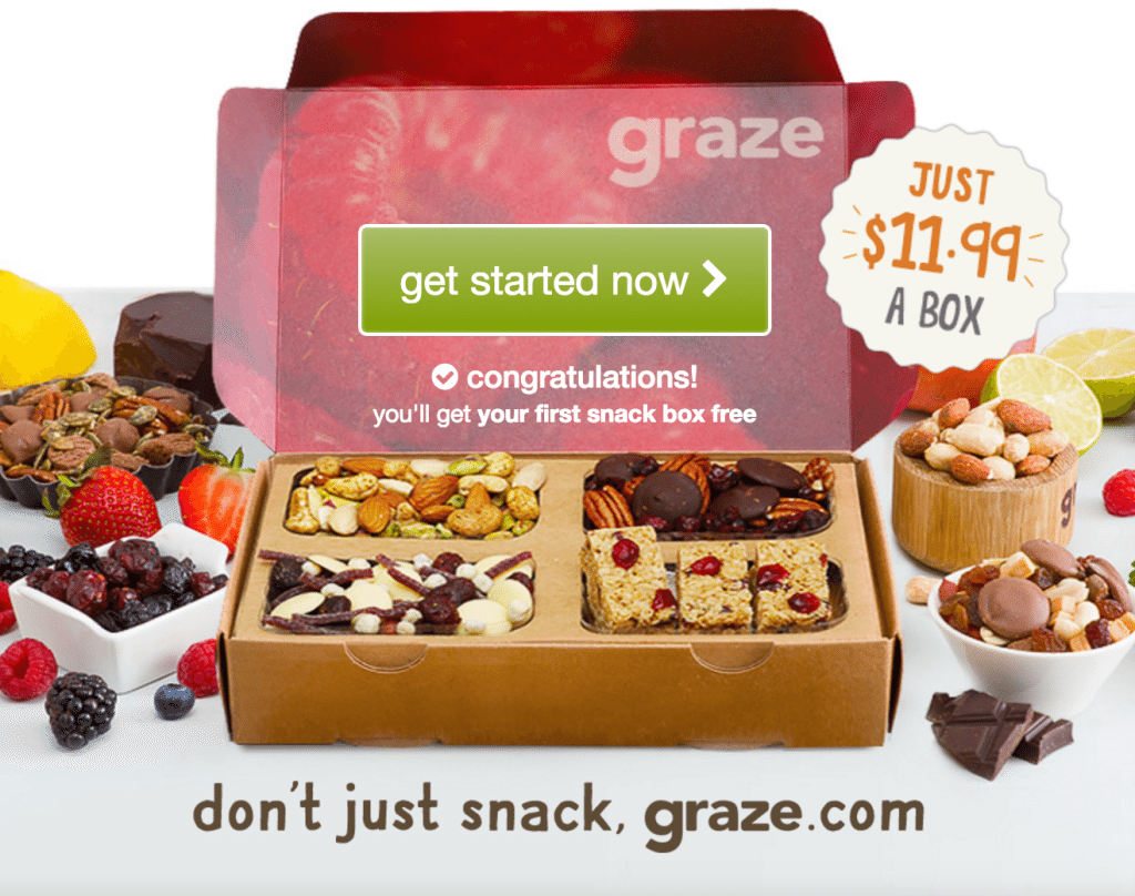 sansclicker.ml – FREE Graze Box. After your free box, you will automatically continue getting regular boxes unless you cancel your deliveries online (which you can do at any time). 7. This offer may not be redeemed in conjunction with any other offer and is limited .