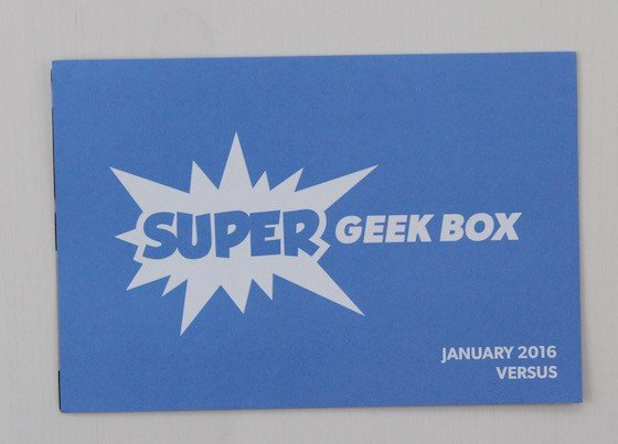 Super Geek Box Subscription Box Review January 2016 - card