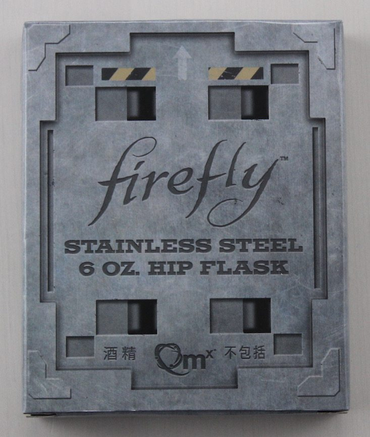 Loot Crate Firefly Cargo Crate Subscription Box Review + Coupon May 2016 - flask packaging