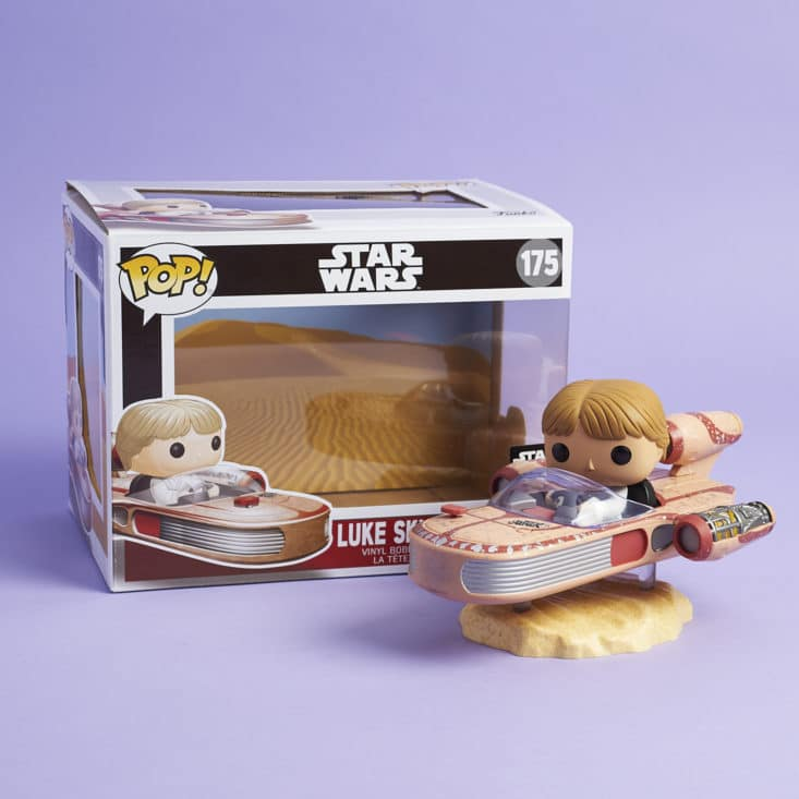 Star Wars Smugglers Bounty - May 2017 - 40th Anniversary - Luke Skywalker with Speeder with box