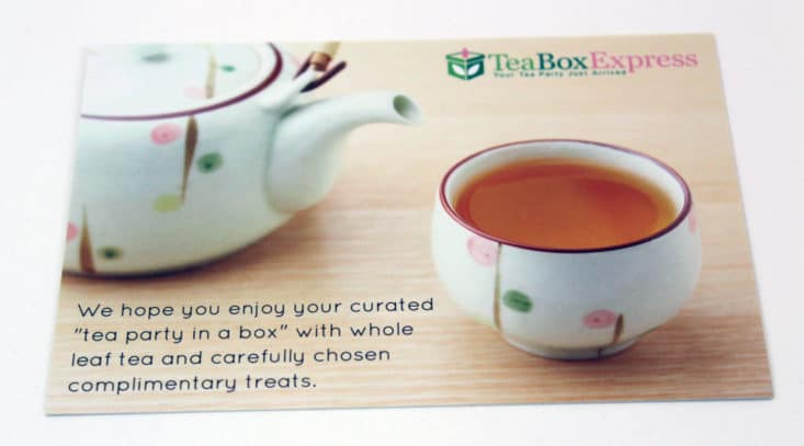 Tea Box Express July 2017 Box