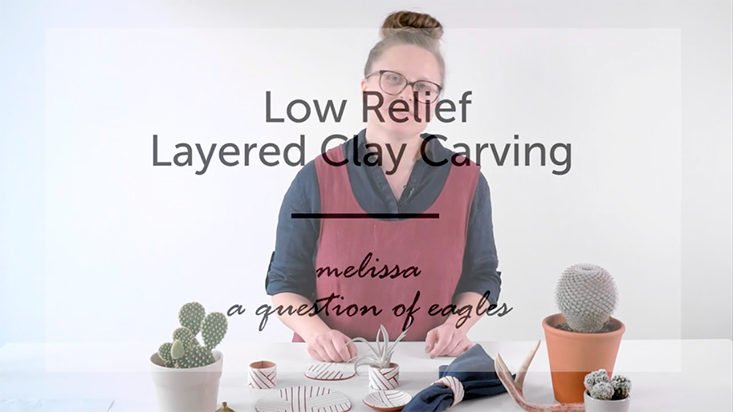 The Crafter's Box - Low Relief Layered Clay Carving - August 2017 DIY Craft Subscription Box