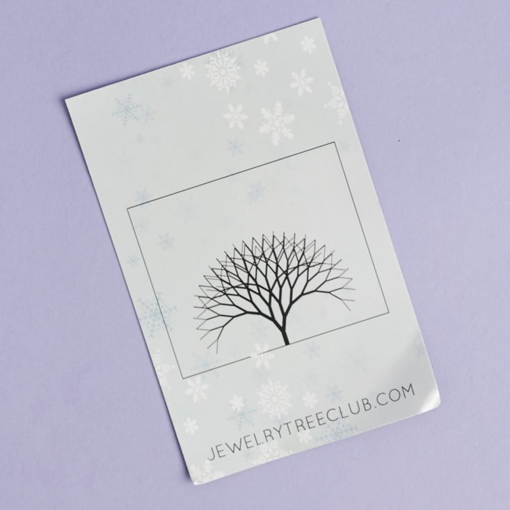 jewelry tree info card