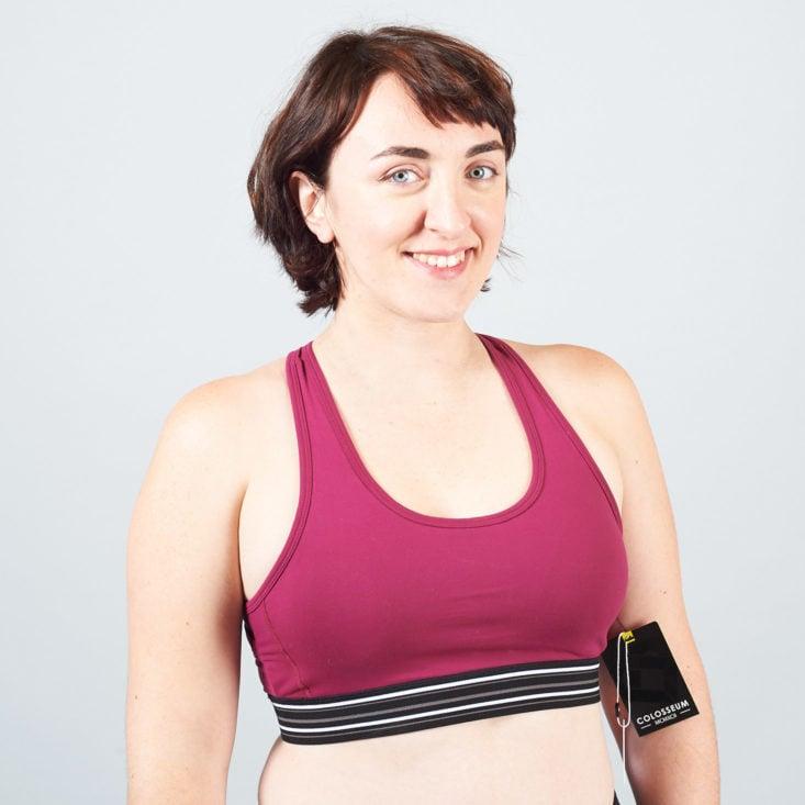 mulberry colored sports bra