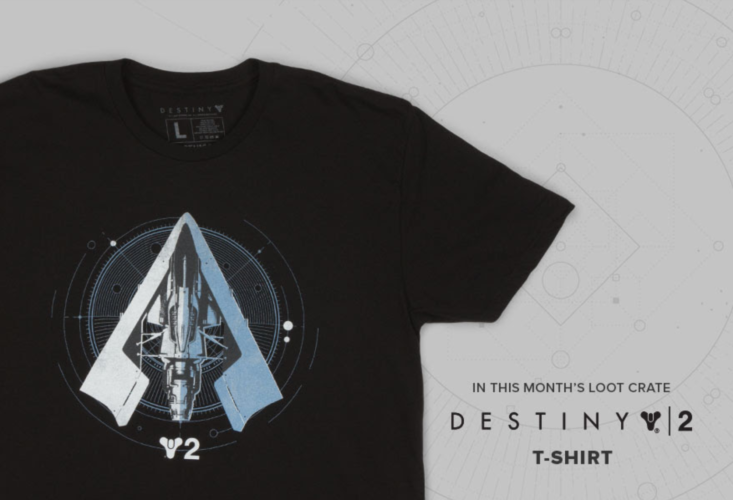 loot crate december 2017 destiny 2 shirt