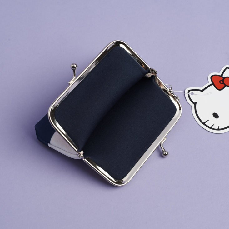 inside of Hello Kitty Coin Purse