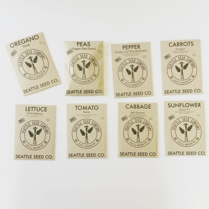 veggie seed packets from Plowbox