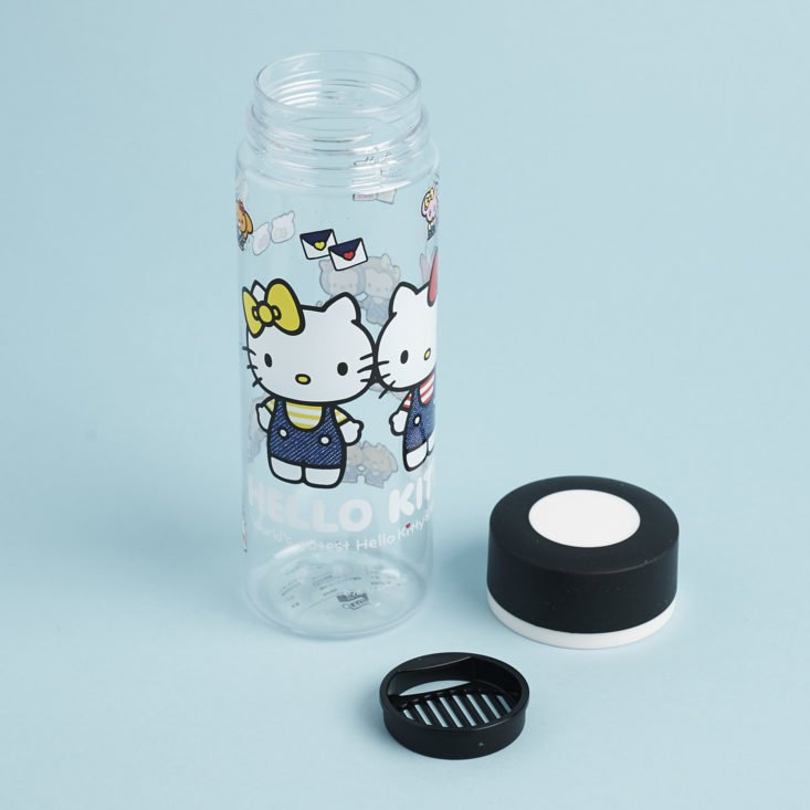 filtered water bottle with hello kitty print