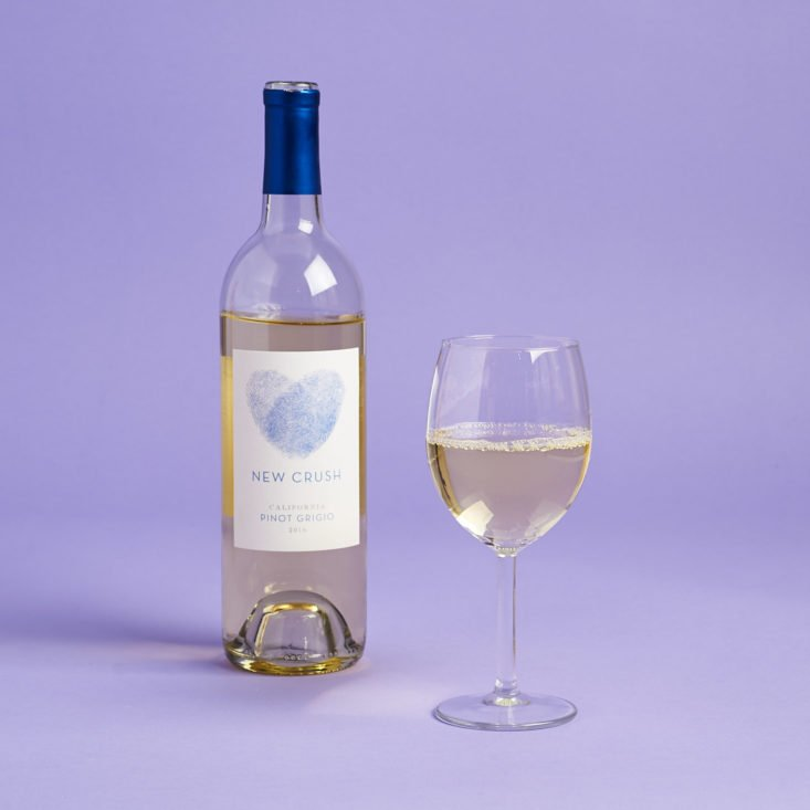 new crush pinot grigio in wine glass