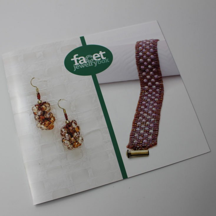 Facet Jewelry Stitching April 2018 Booklet 1