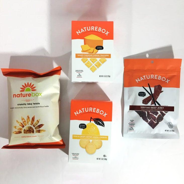 NatureBox April 2018 - Box Contents