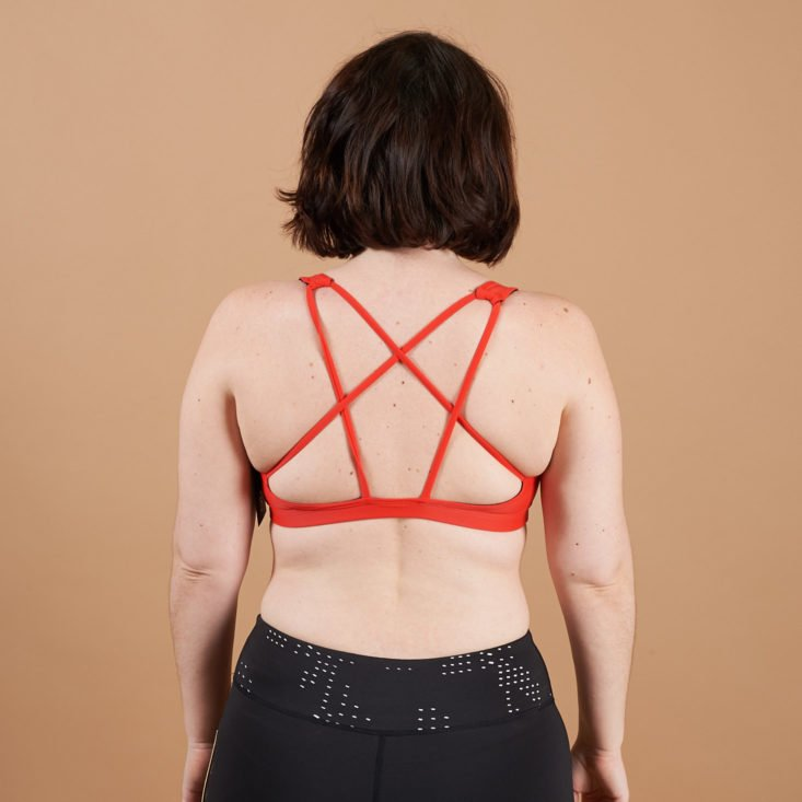 wantable fitness strappy back bra