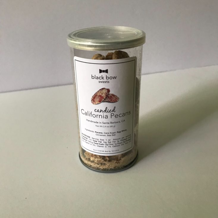 Black Bow Sweets Candied Pecans 2.4 oz can -