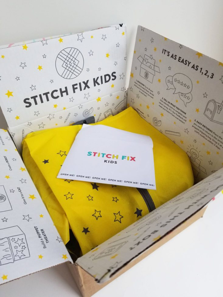 Stitch Fix Kids Inside Box