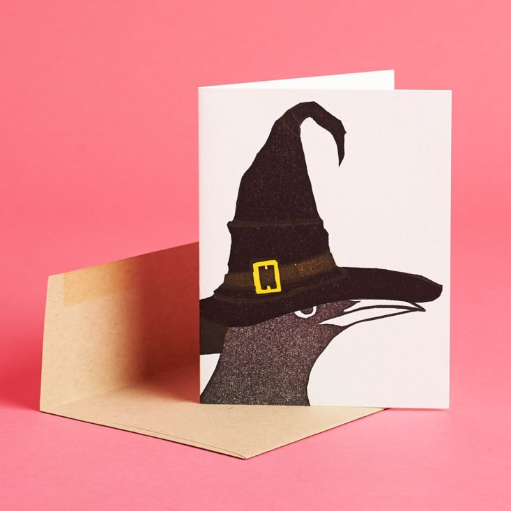 Postmarkd Studio witch crow greeting card