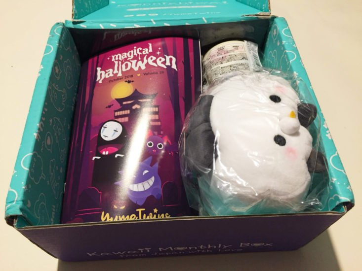 YumeTwins Subscription Box October 2018 - Box Open Top