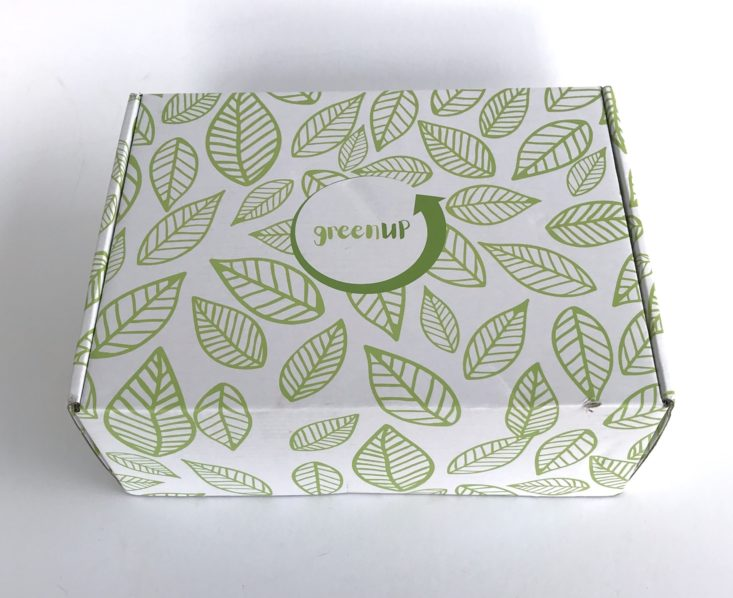 GreenUP October 2018 Subscription Box Review - Box Closed Top