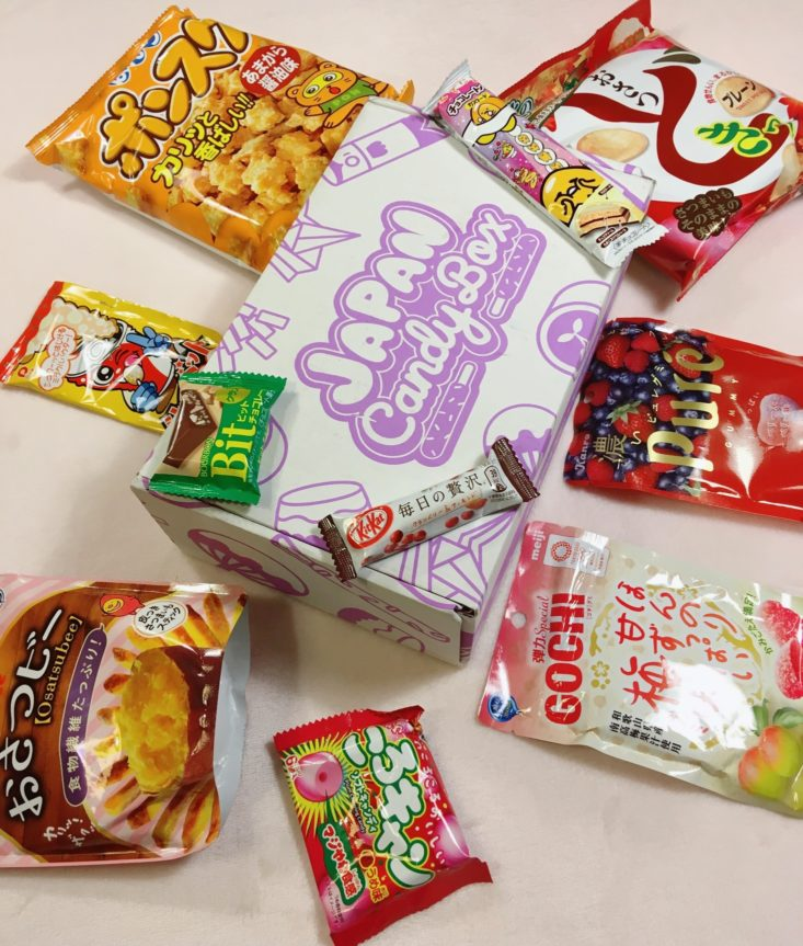 Japan Candy Box November 2018 - Box All Products Review