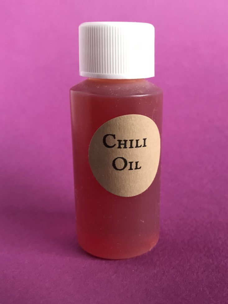 Takeout Kit November 2018 - Chili Oil Front