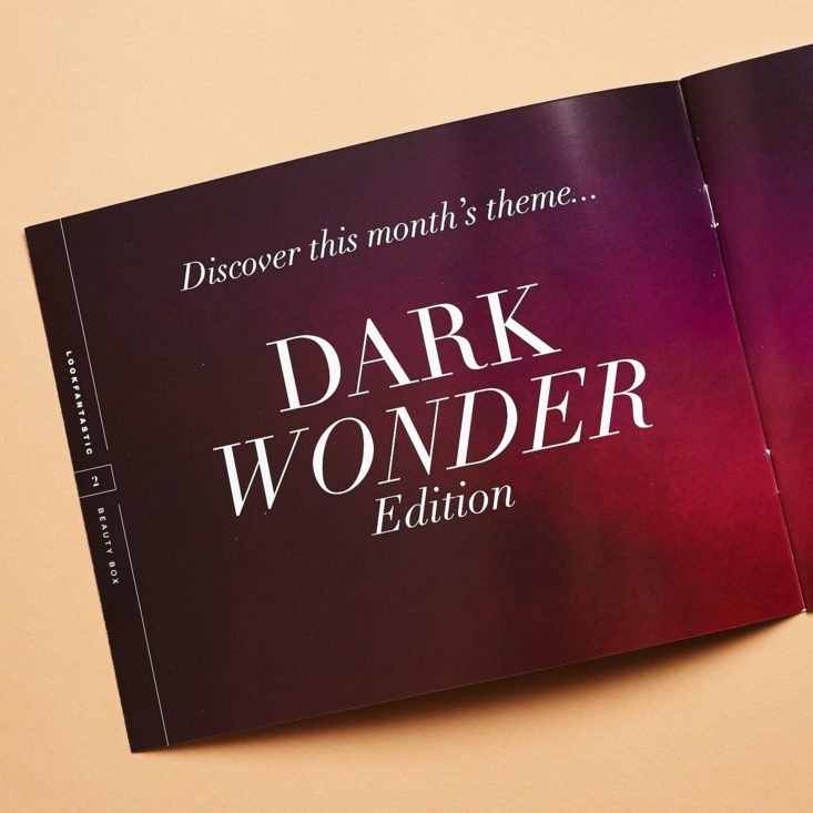 Look Fantastic November 2018 dark wonder