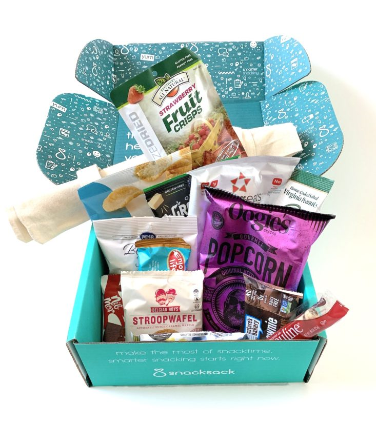 SnackSack Classic Box Review December 2018 - All Products Top
