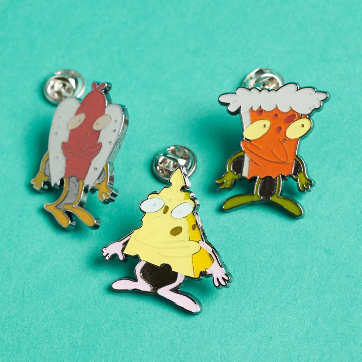 The Nick Box by Culturefly December 2018 - Rocko's Modern Life Enchanted Up-Chucks Pin Set Opened Top