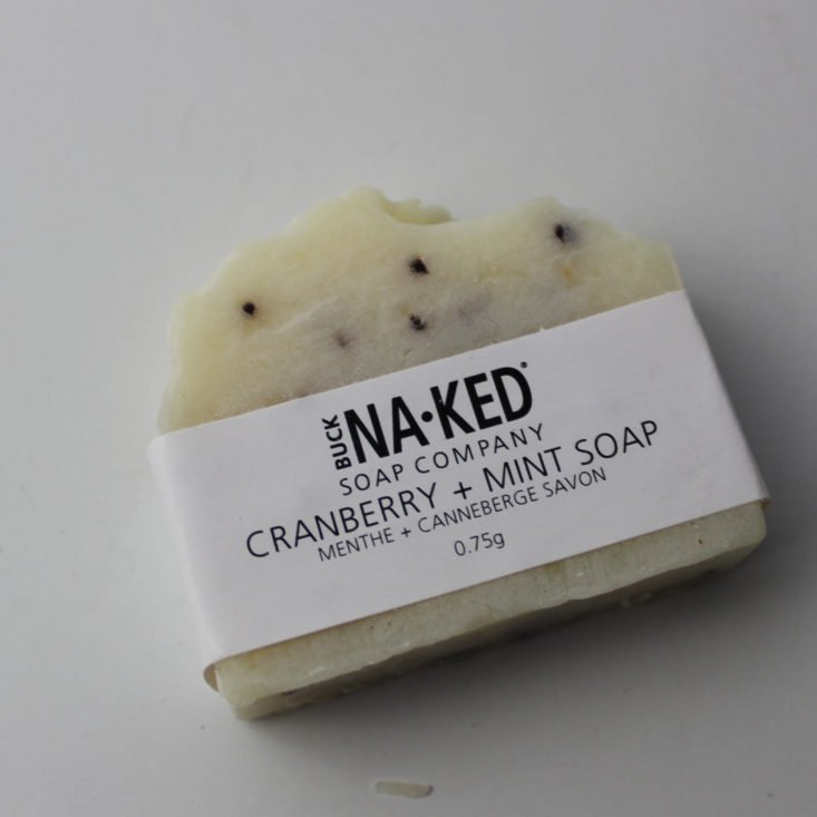 Vegan Cuts Beauty December 2018 - Buck Naked Mint Soap Open Top