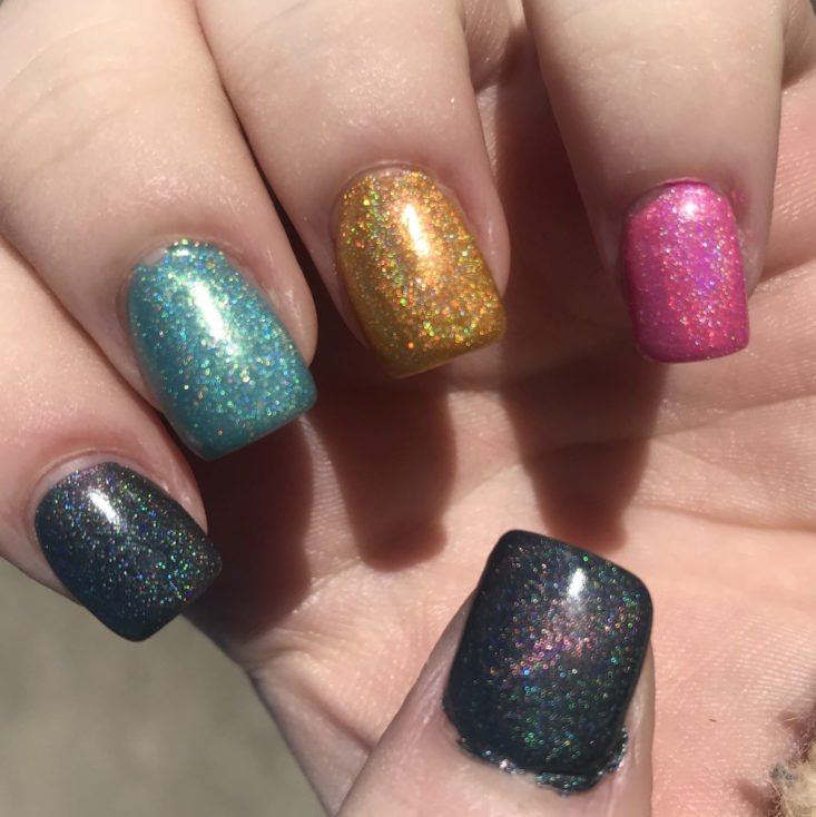 Holo Hookup Bees January 2019 - Swatch 1