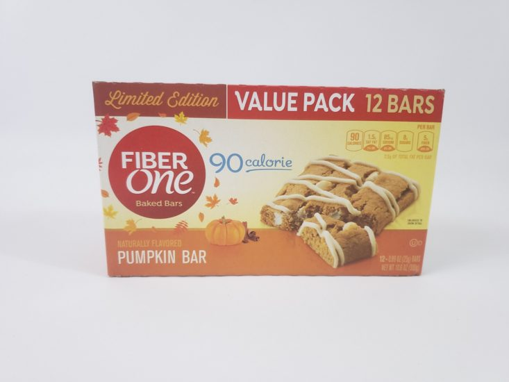 MONTHLY BOX OF FOOD AND SNACK REVIEW – January 2019 - Pumpkin Fiber Front