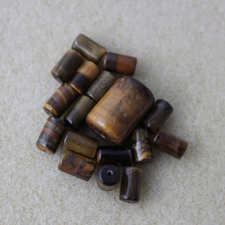 Vintage Bead Box January 2019 - Tiger Eye Beads View