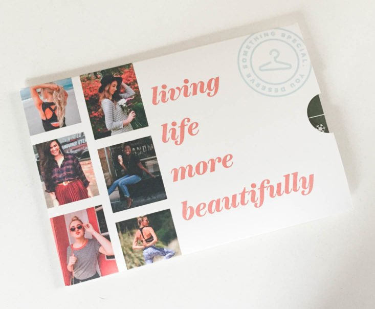 Wantable Fitness Edit Subscription Review December 2018 - Booklet Top