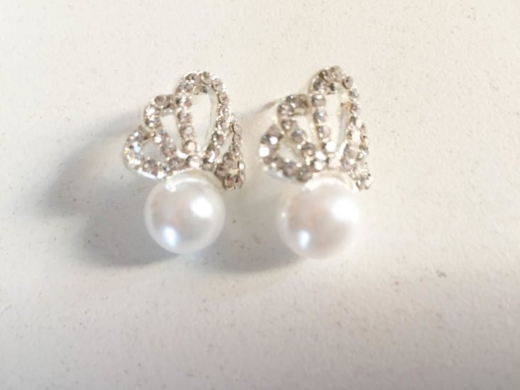 Nadine West February 2019 - Silver Crown Studs Front