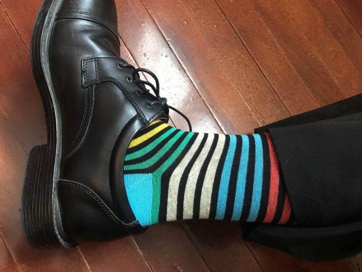 Sock Fancy Mens Crew February 2019 - Multi Colored Stripe Mens Socks 4