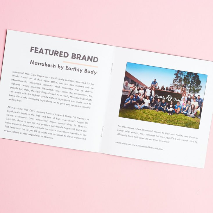 Bombay and Cedar February 2019 booklet featured brand