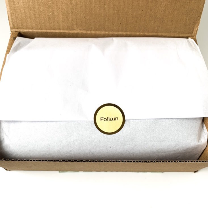 Follain Healthy Hydration Box March 2019 - Open Box Top