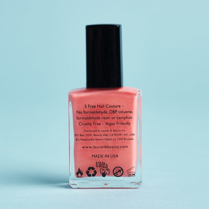 Glossybox LE Easter Egg nail polish back