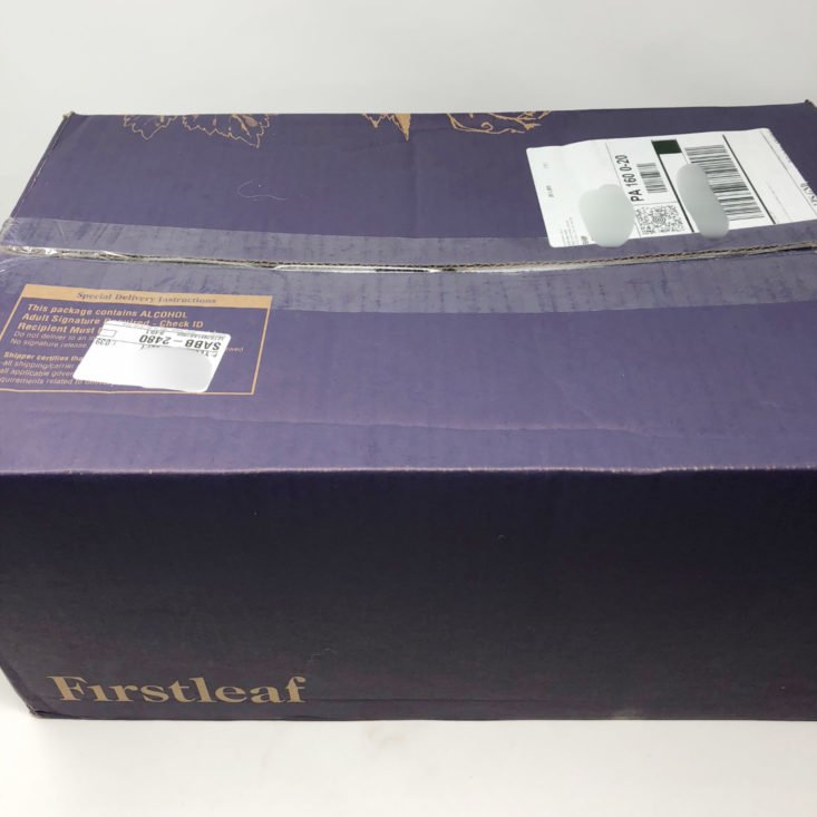 Firstleaf Wine Subscription March 2019 Review - Box Closed Front