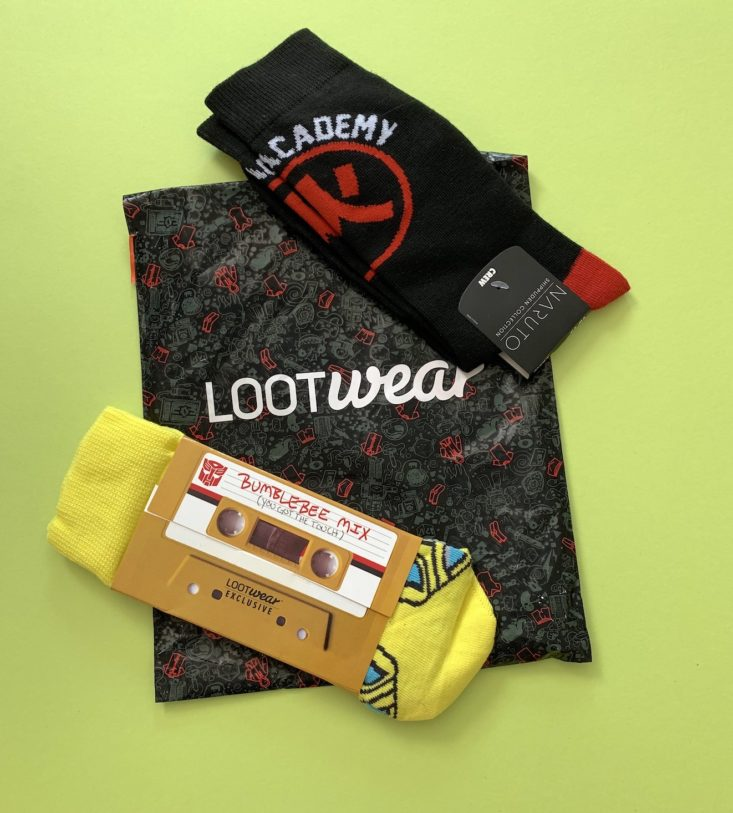"Loot Socks ""Transformation"" Review February 2019 - All Products Top"