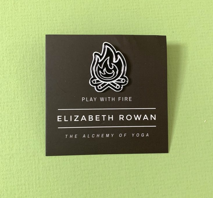 MoonBox April 2019 - Elizabeth Rowan Play with Fire Pin Front