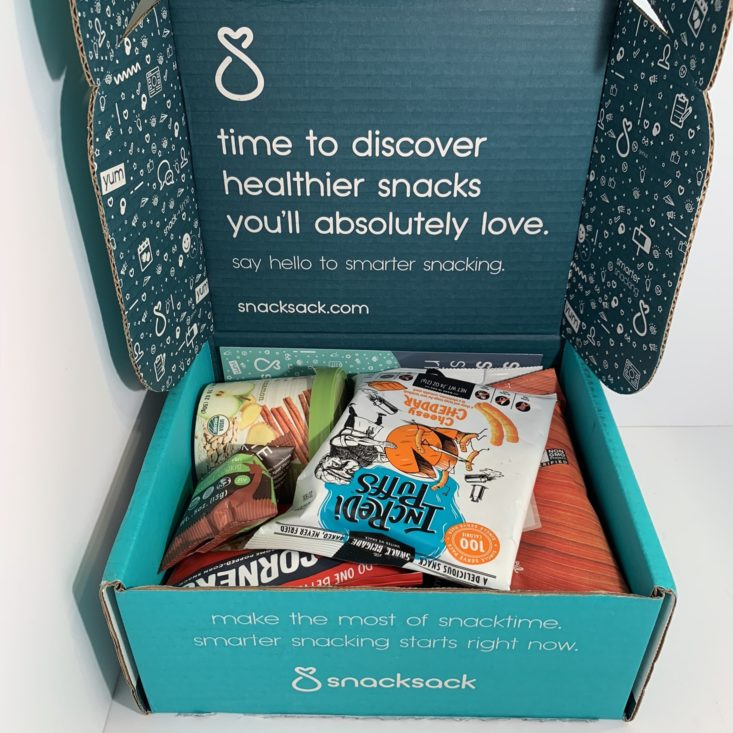 SnackSack Gluten Free April 2019 - Opened Box Front