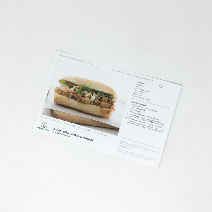 5-minute lunch korean BBQ chicken sandwich recipe with a photo example of how to plate the dish