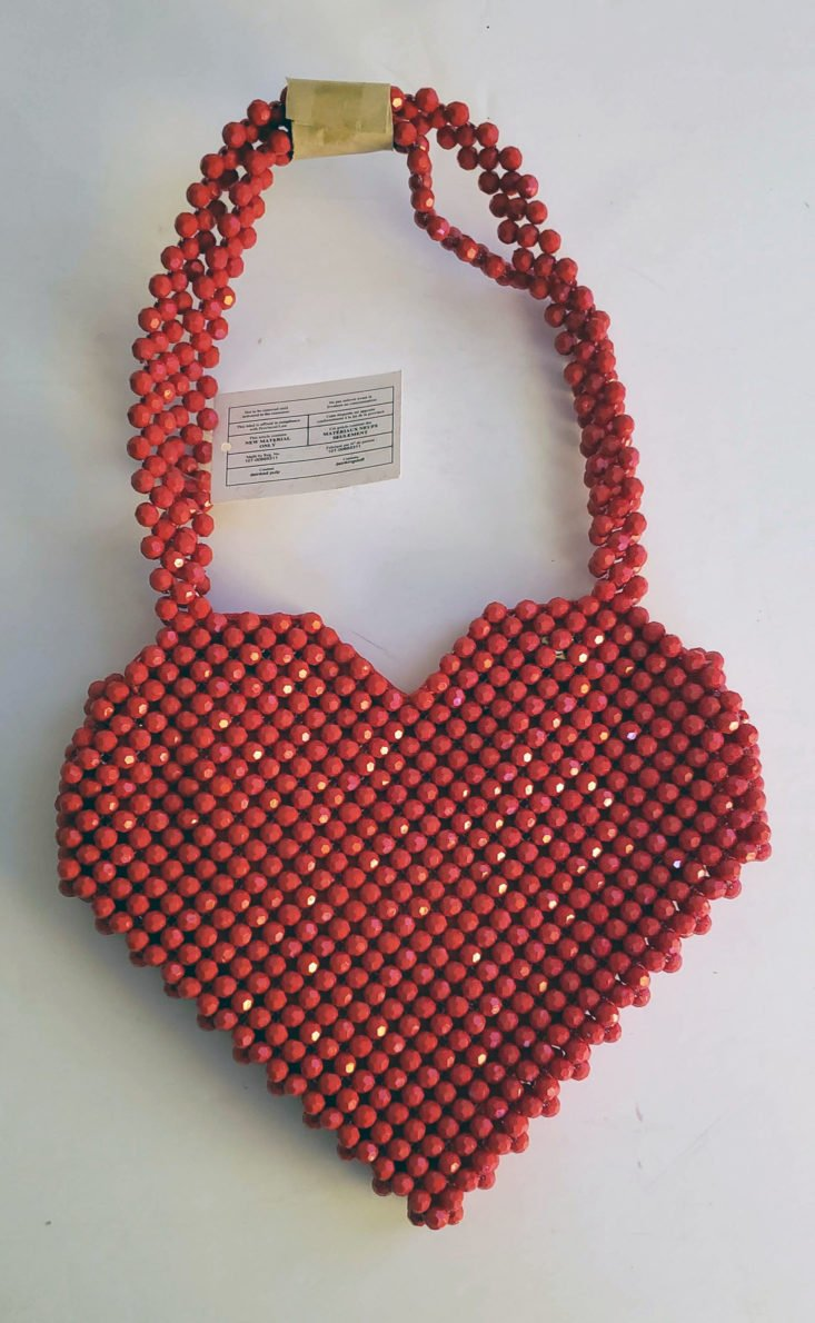 Dia & Co Subscription Box July 2019 - Acrylic Bead Heart Bag With Lining Top