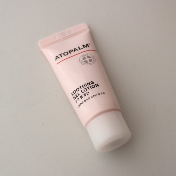 Bomibag August 2019 - Atopalm Soothing Gel Lotion Top